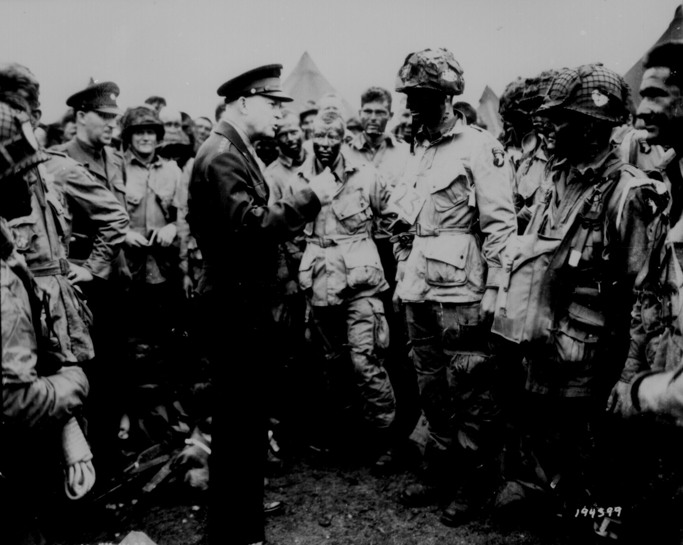 Gen. Dwight D. Eisenhower gives the order of the Day